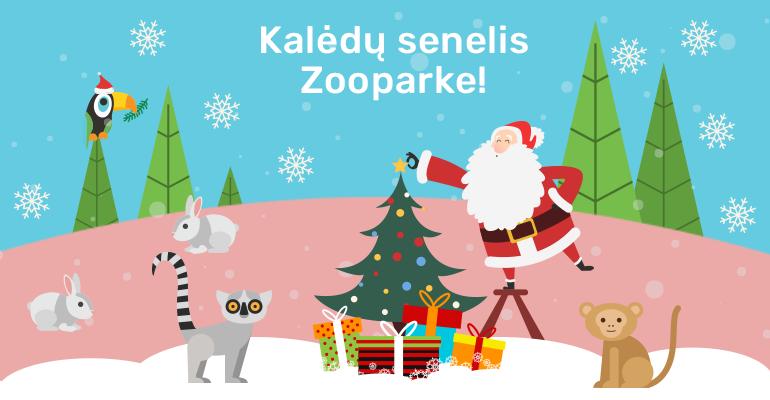 Kiekvieną gruodžio penktadienį Zooparke lankysis Kalėdų senelis ir Elza