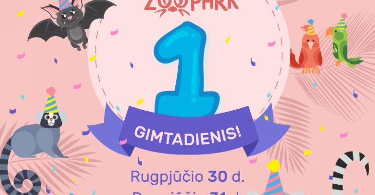 """Zoologijos sodui Vilniuje """"Zoopark"""" – vieneri metai"""