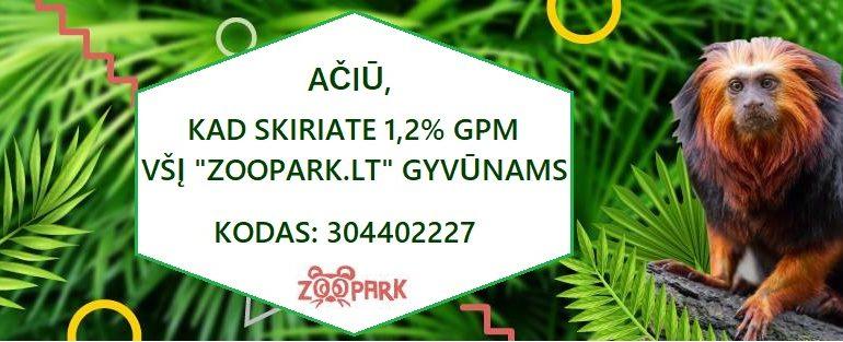 Kviečiame skirti 1.2% GPM gyvūnams!
