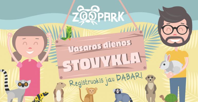 VASAROS DIENOS STOVYKLOS zoologijos sode Zoopark Vilniuje