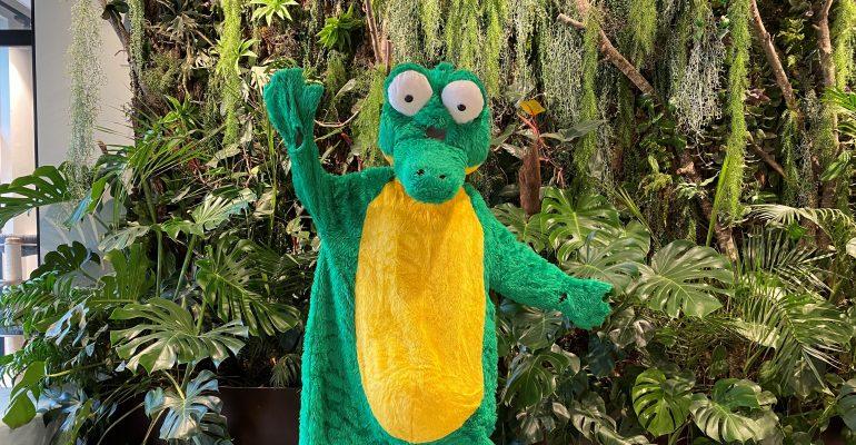Krokodilas jūsų šventėje - NEMOKAMAI!