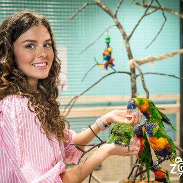 Zooparke apsilankė tituluota gražuolė Patricija Belousova